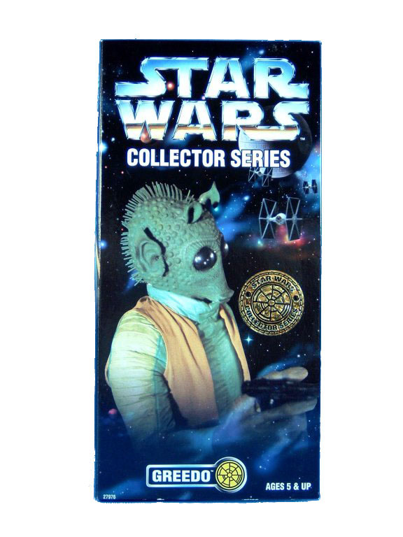 "1997 Star Wars POTF2 12"" GREEDO JC PENNEY EXCLUSIVE Sealed"